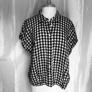 Who What Wear Gingham Shirt-Excellent Condition